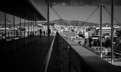 Family moments (Rabican7) Tags: athens greece blackandwhite moments family home reflection cityscape city urban lines tones photography stavrosniarchos culturalcenter
