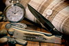 Case xx, Trapperlock. 2 (EOS) (Mega-Magpie) Tags: canon eos 60d case trapperlock pocket knife clip blade shirt indoorwinterblues bone handle watch timepiece classic rocks