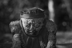 Meditation (Blues Walk) Tags: olympusep5 olympusm45mmf18 bw monochrome japan osaka meditation stonebuddhist