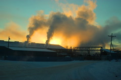 Stinging cold sunrise (cheliman) Tags: morning cold belowzero sunrise titusville pa nwpa snow bitter industry waxplant steam extreme frozen pennsylvania winter 2018 january frosty industrial outdoor