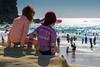 Friends... (ImagesByLin) Tags: redheadbeach summer beach birdseyeview boards friends friendship fun funinthesun heatwave hot ocean rockformation sand sunsafe surf swimmers water