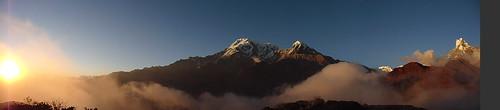 Panoramic Annapurna Sunset