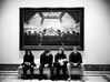 Waiting at the Last Supper Cafe (dcastelli9574) Tags: leica m2 40mm f20 mrokkor ilford hp5 ei 800 selfdeveloped printedscanned national gallery art washington dc museum pix the last supper id11 developer