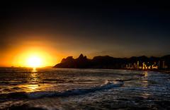Sunset in Rio (Mike Wyner) Tags: sunset rio riodejaneiro ipanema copacabana