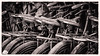 Highly strung (A Different Perspective) Tags: bali bali365 bicycle bike carrier handlebar leather old rusty seat spring steel wheel worn
