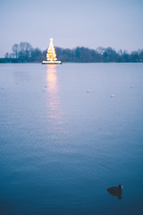 Merry Christmas (mripp) Tags: art vintage retro old weihnachten xmas christmas card blue weihnachtsgrüse seasons greetings water lake hamburg germany europe europa nature natur leica m10 summilux 50mm
