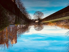 Galway sky water / water sky (sydclash) Tags: irlandatiamo ireland irlanda riflessi reflex river galway