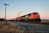 A CN Kind of Evening (Wheelnrail) Tags: cn canadian national ohio csx k train ethanol tank evening sunset red pink emd sd70i locomotive railroad rail road rails toledo subdivision winter rural america