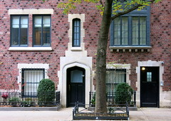 The Tudor Gothic Windsor Arms (1926), West 9th Street, Greenwich Village, New York