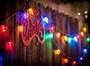 Merry Christmas sign and lights (dmitrycaraman) Tags: 2018 string color winter abstract xmas background decorative lights dmitry set celebration year merry christmas new seasonal white backyard bokeh pattern 2017 holiday border season closeup vector party greeting collection design evening decor light caraman california night colorful symbol photography bright element house decoration wallpaper blurred illustration frame happy wreath