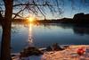 Merry Christmas from Norway! (Vest der ute) Tags: xt2 water waterscape landscape lake rogaland trees tree snow winter earlymorning sunrise outdoor ice norway haugesund eivindsvatnet fav25 fav200