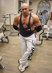 ANT-006-52 (Hardron) Tags: bodybuilder muscle naked pecs gym exhibitionist