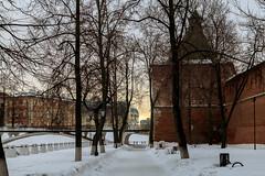 In the Shadow of the Kremlin Walls (skboris) Tags: evening kremlin nicholas nizhnynovgorod shadow snow st tower wall winter nizhnijnovgorod nizhegorodskayaoblast russia ru