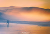 Leisure and pleasure (Mimadeo) Tags: couple person two beach sunset walking romantic romance ocean sea coast vacation water people walk silhouette love sand sunrise man summer golden woman shore together leisure holiday beautiful