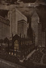 The New York Trinity Church in the 1920s (frankmh) Tags: church skyscraper trinitychurch newyork night sky moon 1920s usa outdoor