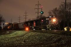 Work at Hawthorne (BravoDelta1999) Tags: britishcolumbia bcol railroad canadiannational cn railway illinoiscentral ic freeportsubdivision broadview illinois ge c449wl 4652 a446 manifest train