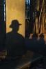The man with the hat (dididumm) Tags: shadow sunshine hat man winter dusk stone pavilion column pillar säule pavillon steinpavillon stein abenddämmerung dämmerung mann hut sonnenschein schatten