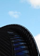5 - Créteil, Cathédrale Notre-Dame, Bleu (melina1965) Tags: 2017 décembre december îledefrance valdemarne nikon coolpix s3700 créteil ciel sky cloud clouds nuage nuages église églises church churches vitrail vitraux stainedglasswindow stainedglasswindows façade façades bois wood