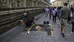 Art Treasures of Florence (Steve Mitchell Gallery) Tags: travel florence italy art streetart streetartist artists chalk sidewalk streets