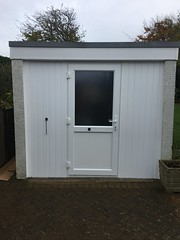 Converting a single garage door opening with a upvc double glazed  door