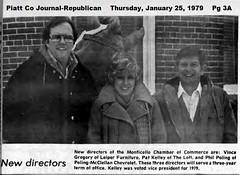 Phil Poling. Monticello, IL Chamber of Commerce 1979-01-25 (RLWisegarver) Tags: piatt county history monticello illinois usa il