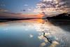 First Sunrise of 2018 (tony.liu.photography) Tags: sunrise 2018 landscape seascape colour reflection clouds beach sand sky sun nudgee brisbane queensland australia canon 5d4 1635lf4is 16mm wideangle nisi filter reverse grad nd