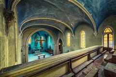 Blue Chapel (Photonirik) Tags: vert urbex decay urban exploration oblivion abandoned abandonné oubli forgotten ue dust
