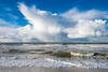 Shower on the Horizon (1) (D.ROS) Tags: 2017 autumn beach blue clouds dunes herfst netherlands northholland northsea outdoor outside petten sand sea shower sky strand water waves white yellow supershot