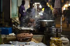Smoky Night (sakthi vinodhini) Tags: street market food edibles smoke seller vendor sleep night india incredible indore madhya pradesh north