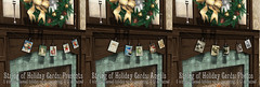 String of Holiday Cards poster Social Media (the_innocence) Tags: christmas xmas homedecor holidaydecor cards greetingcards candles rustic rusty metal wings berries wreath papermoon pm
