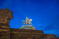 William I, German Emperor (Tony Shertila) Tags: alamannia coblence deutscheseck deutschland germany kingofprussia koblenz wilhelmi williamfredericklouisofhohenzollern bluehour city coblenz dusk europe moselle night outdoor rhine rhineland sky 20170823212740 statue monument rheinlandpfalz deu