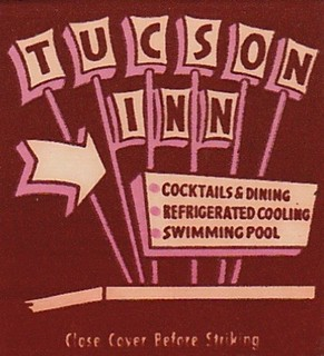 Vintage Matchbook Cover - Tucson Inn Motel Sign