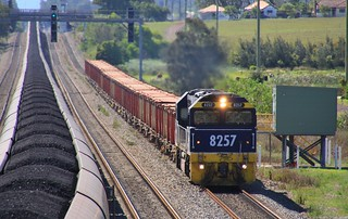 8257 on 8426N loaded ore train from Broken Hill to Newcastle