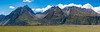Mountains and Meadoews (Ron Scubadiver's Wild Life) Tags: stitched pano nikon south island new zealand grassland mountains sky clouds landscape 85mm samyang picflixdigitalimages