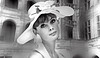 (horlo) Tags: jeanshrimpton bw blackandwhite vintage noiretblanc nb wallpaper fonddécran glamour monochrome woman femme portrait