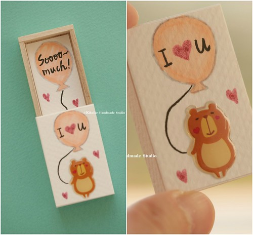 I Love You Sooooo Muchminiatures Matchbox Cardvalentines Gift