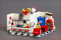 All American Diner (Frost Bricks) Tags: lego all american diner moc food restaurant cafe ice creamery