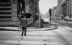 Snow Man (delcroix_romain) Tags: blackandwhite monochrome snow sigma 1835mm street streetphotography lille hautdefrance nordpasdecalais nord france french