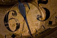 Macro Mondays: Double Exposure Antique Clock/Watch Face (Glotzsee) Tags: macromondays doubleexposure