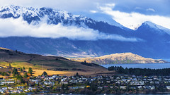 Queenstown, New Zealand (Flortography) Tags: outdoors newzealand hill hillside mountain sky clouds weather land landscape landmark nature natura wilderness winter foto fotografia professionalphotography professional queenstown water remarkables