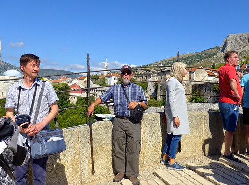 Ali on Stari Most, Mostar