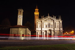 ... Time passes you by (Marco MCMLXXVI) Tags: saronno lombardia italy church ancient sanctuary santuario beataverginedeimiracoli architecture night cityscape longexposure light trails outdoor pentax kx europe road tower sactuary nocturnal lights notte streetphotography street scenery city town cathedral