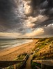 Early morning light under storm clouds. (Gary Eastwood) Tags: beacheslandscapes beach surfcoast surf cloudsstormssunsetssunrises clouds storm stormclouds longexposure ndfilter nikond750 nisifilters sunrise