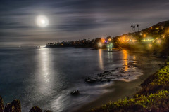 Moondance (tquist24) Tags: california hdr lagunabeach nikon nikond5300 outdoor pacificocean beach cliff clouds geotagged lights longexposure moon morning ocean palmtree palmtrees park reflection reflections rocks sand sea seascape sky tree trees water unitedstates night