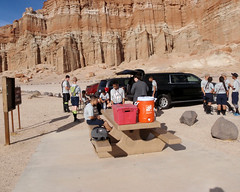 006 El Dorado Sets Up Camp (saschmitz_earthlink_net) Tags: 2017 california orienteering redrockcanyon statepark laoc losangelesorienteeringclub mojavedesert desert kerncounty elpasorange