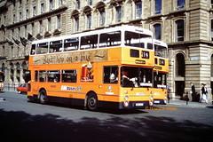 G M Buses 4164 (VBA 164S) plus 4409 (MRJ 409W) behind (SelmerOrSelnec) Tags: gmbuses leyland atlantean northerncounties vba164s mrj409w manchester portlandstreet bus greatermanchestertransport gmt greatermanchesterpte gmpte
