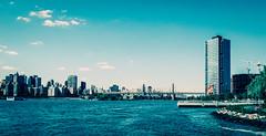 B L U E (Juni Safont) Tags: skyline eastriver queens manhattan nyc newyorkcity water longislandcity hunterspoint queensborobridge midtown midtowneast