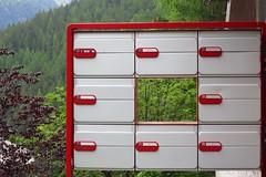 mail hole'd (Riex) Tags: mailboxes boitealettre forest foret grimentz anniviers valdanniviers valais wallis suisse switzerland schweiz g9x