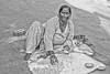 A woman's work (Pejasar) Tags: woman work foodpreparation outside rishikesh india blackandwhite bw