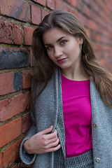 Fashion look in the oldtown (piotr_szymanek) Tags: marcelina portrait outdoor woman girl longhair wall bricks fashion earrings pink oldtown warsaw lips eyes hand young 5k 50f 10k 100f 20k 1k 30k 20f marcelinab 40k closeup